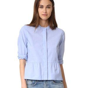 Madewell Peplum Button-Up Shirt